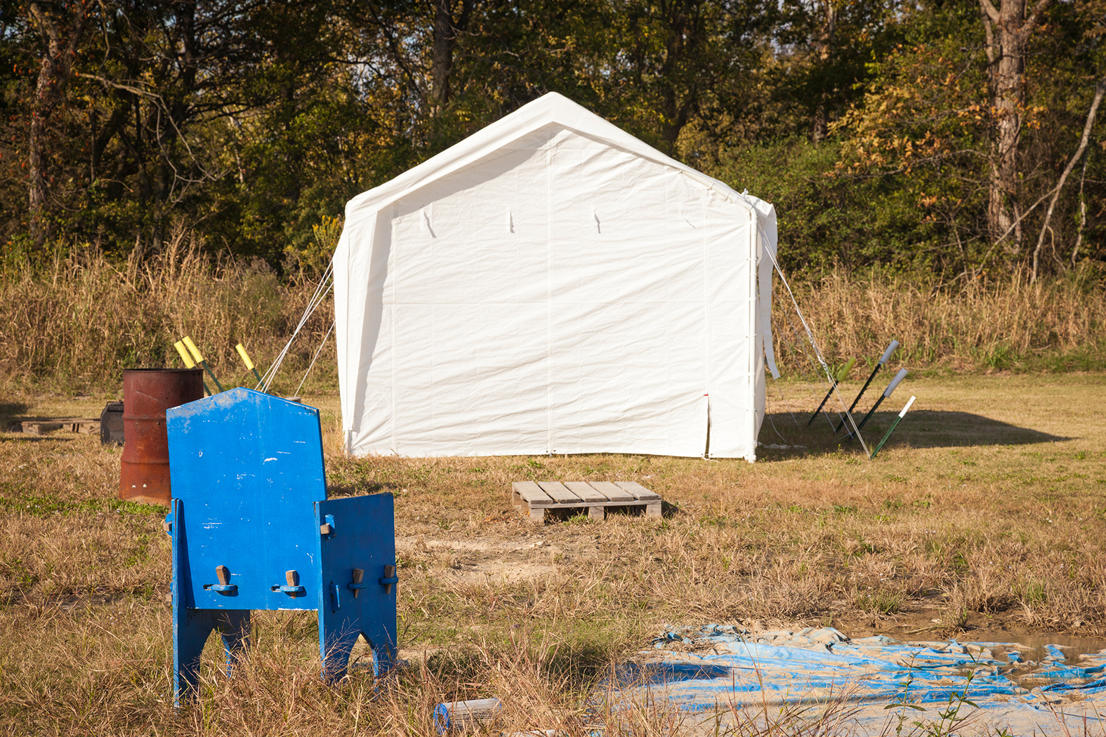 White Tent, Blue Chair, Dockery, MS 2012